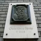 Gutenberg-emléktábla
