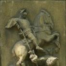 Szent György és a sárkány domborműve