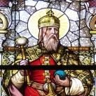 Szent István és Szent Erzsébet üvegablak