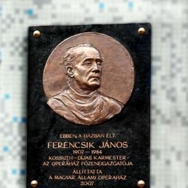 Ferencsik János domborműves emléktábla