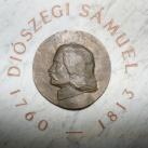 Diószegi Sámuel domborműves emléktáblája