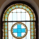 Az Állatorvostudományi Egyetem könyvtár lépcsőházának üvegablakai