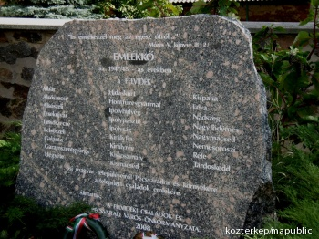 Felvidékről áttelepítettek emlékköve