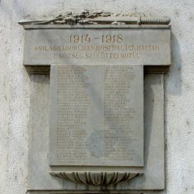 I. világháborús emlékfal