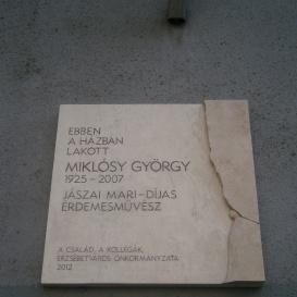 Miklósy György-emléktábla