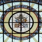 A Szent István-bazilika bal oldali üvegablakai