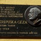 Dr. Krepuska Géza domborműves emléktábla