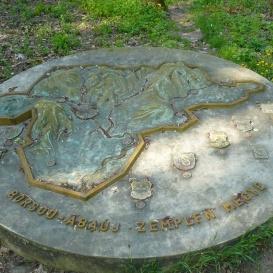 Borsod-Abaúj-Zemplén megye térképe dombormű