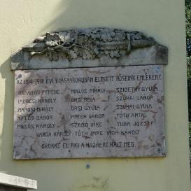Első világháborús hősi emlékmű