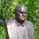 Winston Churchill-mellszobor