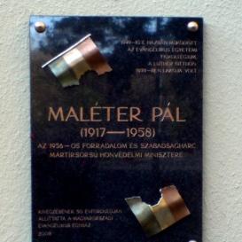 Maléter Pál domborműves emléktábla