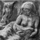 Leány bagollyal - Martsa Alajos síremléke