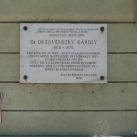 Orzovenszky Károly orvos emléktáblája