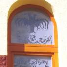Nagykanizsai Református Templom maratott üvegablak képei