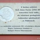Zách János Ferenc domborműves emléktáblája