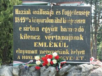 A kilenc vértanú emlékműve