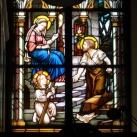 Tokaji római katolikus templom üvegablakai