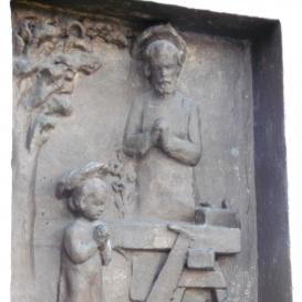 Munkás Szent József és a gyermek Jézus