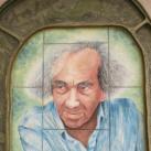 Faludy György-csempeportré