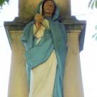 Kőfeszület Szűz Máriával