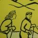 Úttörővasút - Előre (Virágvölgy) állomás sgraffitója