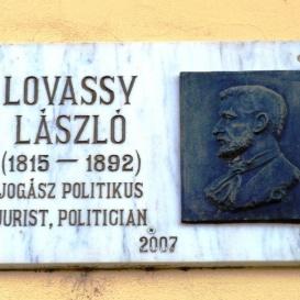 Lovassy László-emléktábla