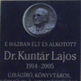 Kuntár Lajos-emléktábla