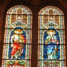 Szent László király és Szent Erzsébet üvegablak