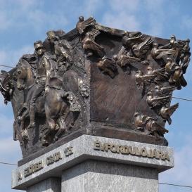 Szőregi csata emlékoszlopa