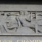 Théatre des Champs Élysées homlokzatának domborművei