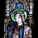 A római katolikus erődtemplom üvegablakai