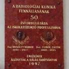 A Radiológiai Klinika fennállásának 50. évfordulójára