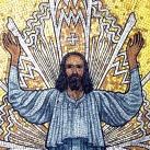 Krisztus feltámadása - Fiumei úti sírkert, kupolasir - mozaikkép