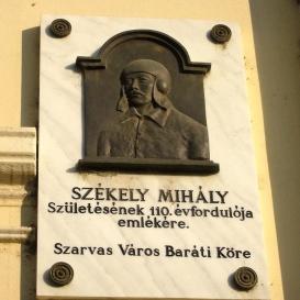 Székely Mihály-emléktábla