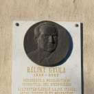 Bálint Gyula domborműves emléktáblája