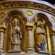 A Mátyás-templom szószékének szobrászati díszei