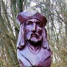 Attila király fa szobra