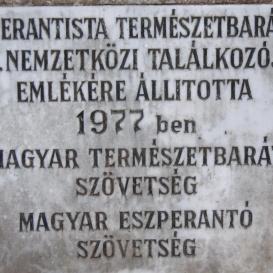 Eszperantó találkozó emlékköve
