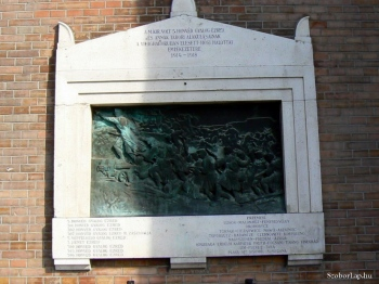5. Honvéd gyalogezred emléktáblája