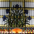 A Benczúr-ház lépcsőházi üvegablaka