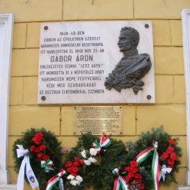 Gábor Áron emléktábla