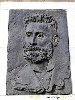 Pulitzer József domborműves emléktáblája