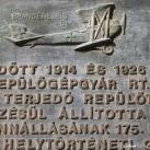 Repülőgépgyár-emléktábla