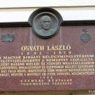 Osváth László domborműves emléktáblája