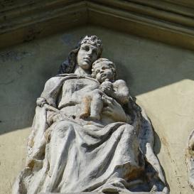 A Budai Ciszterci Szent Imre-templom homlokzatának díszítményei