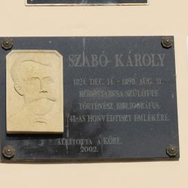 Szabó Károly emléktáblája