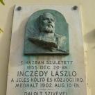 Inczédy László-emléktábla