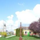 Emlékoszlop a település alapítása tiszteletére