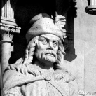 Országház - nyugati homlokzat: Géza fejedelem