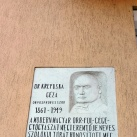 Krepuska Géza-emléktábla